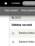 The block provided by Service Links