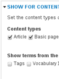 Select for content type