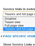 Service Links in nodes